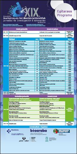 Egitaraua - Programa Jornadas 2018